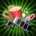 Illustration on movie theme Royalty Free Stock Photo
