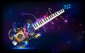 Illustration of music background with guitar Stock Photos