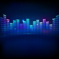 Illustration music equaliser bar shiny background Stock Image