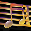 Illustration music notes black background Royalty Free Stock Image