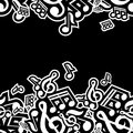 Illustration of musical notes vector Stock Photo