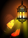 Illustration of a Muslim girl Stock Photos