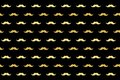 Illustration of mustaches repeated on dark background.