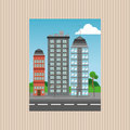 Illustration of nature city, vector design, building and real estate related
