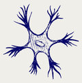 Illustration neuron Stock Photography