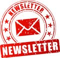 Newsletter red stamp