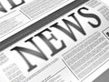 Illustration newspaper news related text lorem ipsum text Stock Image