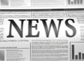 Illustration of a newspaper with news related text lorem ipsum text Stock Photography