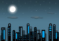 Illustration night city high resolution image Stock Photography