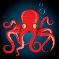 Illustration octopus vector animal underwater Royalty Free Stock Photo