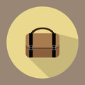 An illustration is an office bag icon. Or a suitcase Can be used for media.