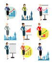 Illustration of office workers on a white background