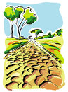 Illustration of old appian way in rome Royalty Free Stock Photo