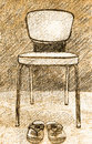 Illustration old chair Stock Photo