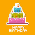 Illustration orange de fond d anniversaire Photo stock