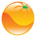 Illustration of orange fruit icon clipart an Stock Image
