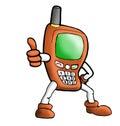 Illustration orange handphone Royalty Free Stock Photo