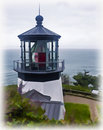 Illustration Painting of Cape Meares Lighthouse Royalty Free Stock Photos