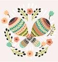 Illustration Pair Colorful Maracas