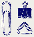 Illustration of a paper clip Stock Photos