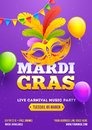 Illustration Of Party Mask Wit...
