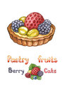 Illustration of pastry fruit Stock Images