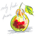 Illustration of pear Stock Images
