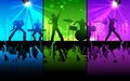 Illustration of people cheering rock band musical performance Royalty Free Stock Photography