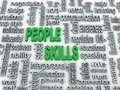 Illustration of people skills d imagen background concept wordcloud Royalty Free Stock Images