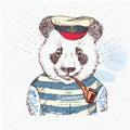Illustration Of Pirate Panda O...