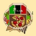 Illustration Of Pizza