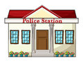 Illustration of a police station on a white background Royalty Free Stock Photos