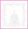 Illustration of princess castle magic fairy tale Royalty Free Stock Photos