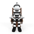 Illustration of a prisoner in an electric chair on white background d render Stock Photo