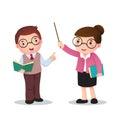 Illustration of profession's costume of teacher for kids