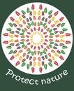 Illustration protect nature.