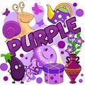Illustration of purple color.