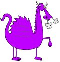 Purple dragon with smoke