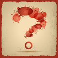Illustration with question mark on old paper background Stock Photography