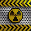 Illustration of radiation symbol as a warning of danger Royalty Free Stock Photos