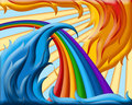 Illustration of  rainbow Royalty Free Stock Images