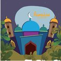 Illustration of Ramadan kareem and Ramadan mubarak. beautiful islamic and arabic hanging lantern and calligraphy wishes holy month