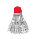 Illustration of realistic badminton birdie isolated on white bac background clip art Royalty Free Stock Photo