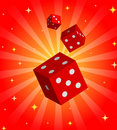 Illustration with red dices Royalty Free Stock Image