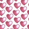 Illustration of red heart pattern