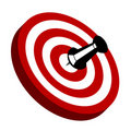 Illustration of a red target with pin Stock Photo