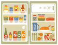 Illustration refrigerator food drinks Stock Photography