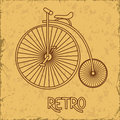 Illustration with retro bicycle on a vintage background Royalty Free Stock Image
