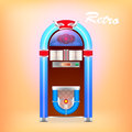 Illustration of retro juke box vector Stock Photography