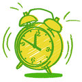 Illustration of a ringing alarm clock isolated Royalty Free Stock Photo